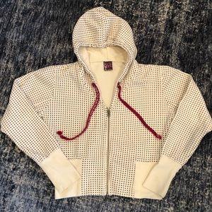 Adorable Cropped Polka Dot Hooded Sweatshirt